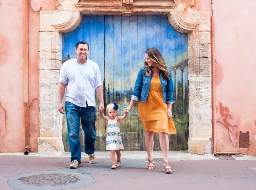 family photo shoot in provence
